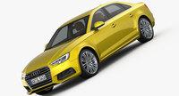 Audi A4 S-Line 2016 3D Model