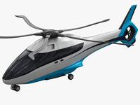 Generic Future Helicopter 3D Model