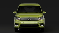 Volkswagen Caddy Maxi 2018 3D Model