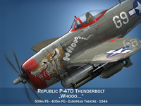 Republic P-47D Thunderbolt - Whoo... 3D Model