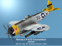 Republic P-47D Thunderbolt - Jeanie 3D Model