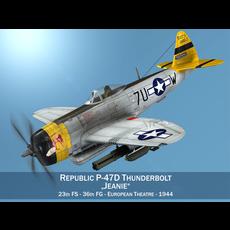 Republic P-47D Thunderbolt - Jeanie 3D Model