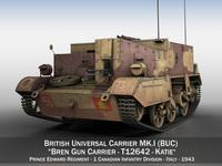 Bren Gun Carrier MK.I - BUC - T12642 3D Model