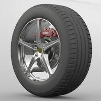 Wheel Ferrari 458 3D Model