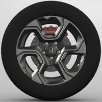 Wheel Honda CR-V 2017 3D Model