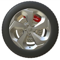 Honda Wheel 2 3D Model