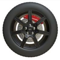 mustang wheel 3D Model