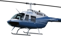 Bell 206 Helicopter 3D Model