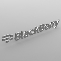 Blackberry logo 3D Model