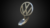 volkswagen hood ornament 3D Model