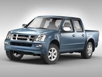 Isuzu D-Max Crew Cab (2004 - 2011) 3D Model