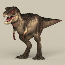 Game Ready Dinosaur Trex 3D Model