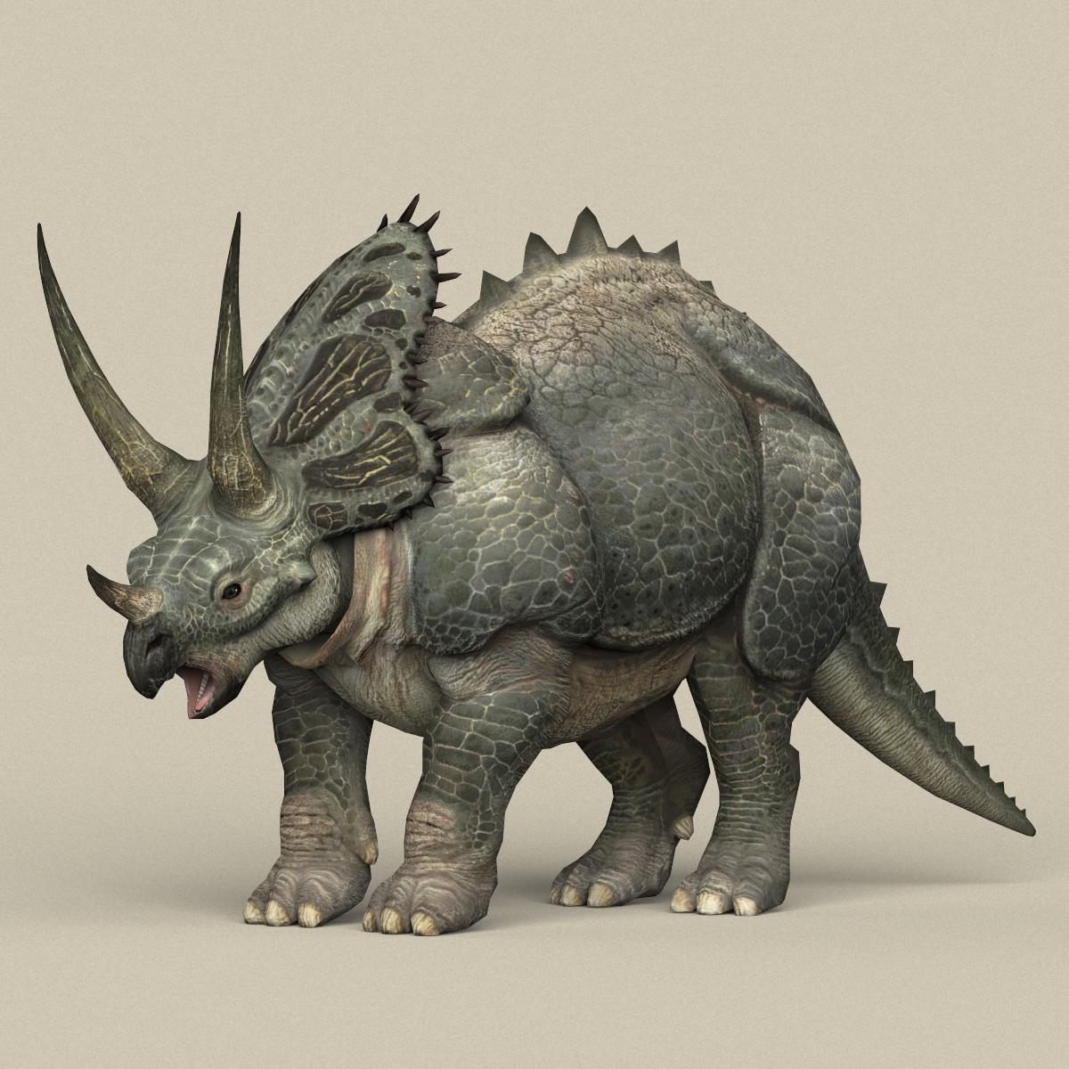 Game Ready Dinosaur Triceratops 3D Model