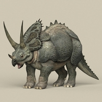 Game Ready Dinosaur Triceratops 3D Model