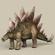 Game Ready Dinosaur Stegosaurus 3D Model
