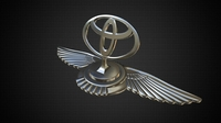 toyota hood ornament 3D Model
