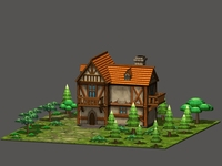 Cartoon Fantasy House 3D Model