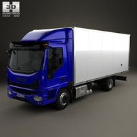 Iveco EuroCargo 75-210 Box Truck 2015 3D Model