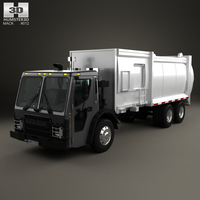 Mack LR Garbage Truck 2015 3D Model