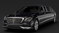Mercedes Maybach S 650 Pullman Guard VV222 2018 3D Model