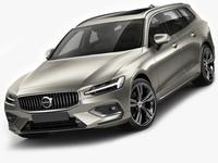 Volvo V60 2019 3D Model