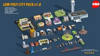 Low Poly City Pack 3D Model