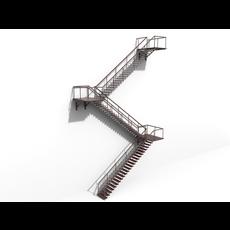 Fire Escape 3D Model