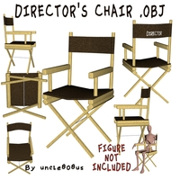 Director's Chair 3D Object 3D Model