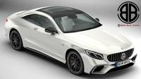 Mercedes S Class Coupe AMG S63 2018 3D Model