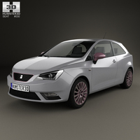 Seat Ibiza SC 2015 3D Model