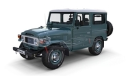 Toyota Land Cruiser FJ 40 with Interior and Chassis 3D Model