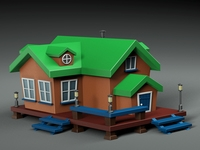Cartoon house v1 3D Model