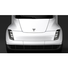 Tesla Semi 4axis 2018 3D Model