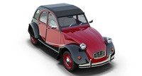 Citroën 2CV6 Charleston 3D Model