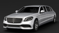 Mercedes Maybach S 650 Pullman VV222 2018 3D Model