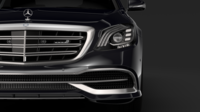 Mercedes Maybach S 650 Guard X222 2018 3D Model