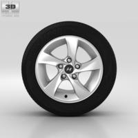 Hyundai Elantra Wheel 15 inch 002 3D Model
