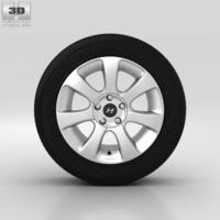 Hyundai Elantra Wheel 17 inch 001 3D Model