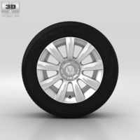 Hyundai Equus Wheel 17 inch 001 3D Model