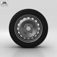 Hyundai i30 Wheel 15 inch 001 3D Model