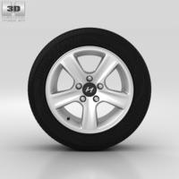 Hyundai i30 Wheel 15 inch 002 3D Model