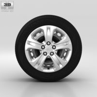 Hyundai ix35 Wheel 17 inch 002 3D Model