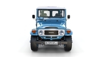 Toyota Land Cruiser FJ 40 Blue with Interior 3D Model