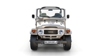 Toyota Land Cruiser FJ 40 Top Down with Interior 3D Model