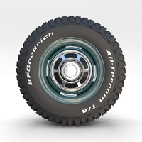 Toyota Land Cruiser FJ 40 Wheel 1 3D Model