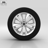 Hyundai Santa Fe Wheel 19 inch 002 3D Model