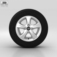 Hyundai Solaris Wheel 14 inch 001 3D Model