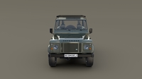 1985 Land Rover Defender 90 with interior ver 5 3D Model