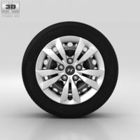 Hyundai Sonata Wheel 16 inch 001 3D Model
