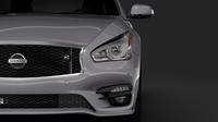Nissan Fuga Sport Long 2018 3D Model